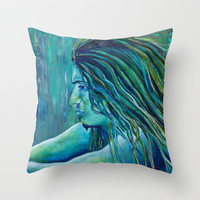 Contemplative Throw Pillow by Sophia Buddenhagen