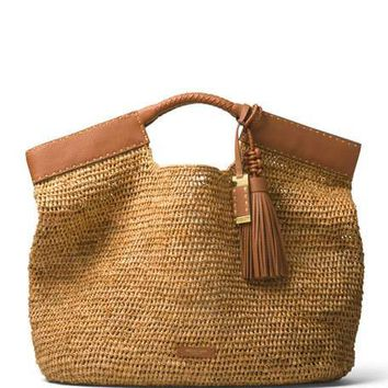 Michael Kors Collection XL Market Raffia Tote Bag
