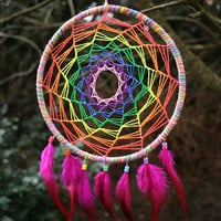 Rainbow UV Dreamcatcher for Decoration or Catching Dreams