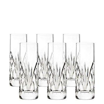 Godinger Dublin Reserve Non-leaded Crystal Barware Shot Glasses Shooters, Set of 6