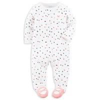 carter's® Zip-Front Confetti Dot Footie in White