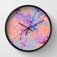 summer flowers Wall Clock by Marianna Tankelevich