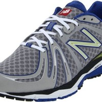 New Balance Men's M890v2 Neutral Running Shoe, Silver/Blue, 12 D US