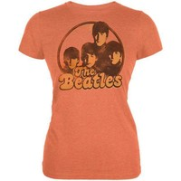 PEAPGQ9 The Beatles - Circle Faces Juniors T-Shirt