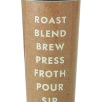 kate spade new york 'roast blend brew press froth pour sip' thermal mug - Brown