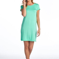 Chasin' The Sun Tee Shirt Dress - Mint