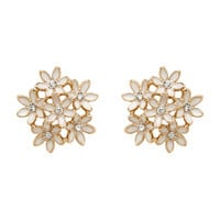 Daisy Floral Embellished Studs - Forever New