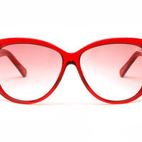 Lovedoll Sunglasses (Ruby Red/Red Gradient)