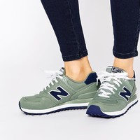 New Balance 574 Grey Trainers at asos.com