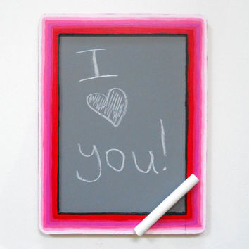 Pink Ombre Painted Chalkboard original by Precious Beast