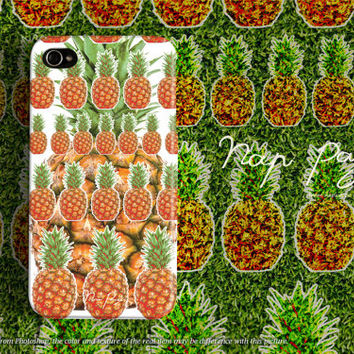 Apple iphone case for iphone iphone 5 iphone 5s iphone 5c iphone 4 iphone 4s iPhone 3Gs : tropical pineapple pattern