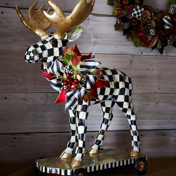 Moose on Parade Figure - MacKenzie-Childs