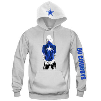"Marilyn Monroe Dallas Cowboys Hoodie ""3 Prints"" Sports Clothing"