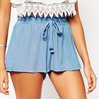 ASOS Woven Flippy Shorts with Tie Waist