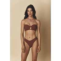 Chocolate Rib Tori Bandeau Top x Lulu Bottom Bikini Set