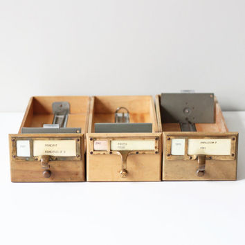 library index card drawer by AMradio on Etsy
