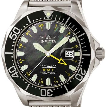 Invicta 6355 Men's Pro Diver Mesh GMT Watch