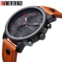 Curren Men's Sports Quartz Watches Mens Watches Top Brand Luxury Leather Wristwatches Relogio Masculino Men Curren Watches 2016