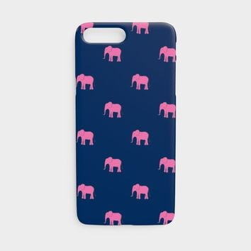 Elephant Cell Phone Case iPhone 7 / 8 - Pink on Navy