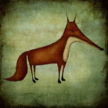 The Fox by majalin on Etsy