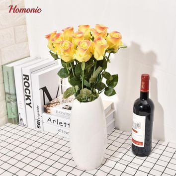 Real touch latex flowers pu rose perennial flowers Artificial foam rose Flowers red roses Bouquets Wedding Home Decoration P30