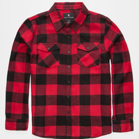Shouthouse Cast Boys Flannel Shirt Red  In Sizes