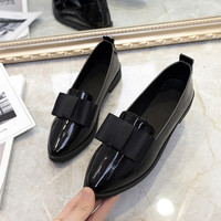 AD AcolorDay Classic Brand Shoes Women Casual Pointed Toe Black Oxford Shoes for Women Flats Comfortable Slip on Women Shoes