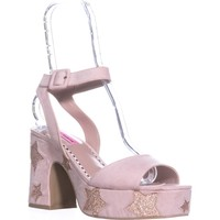 Betsey Johnson Claude Platform Star Sandals, Taupe, 10 US