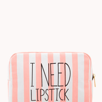 I Need Lipstick Midsize Cosmetic Bag