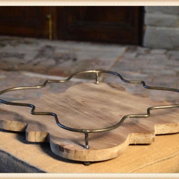 Quatrefoil Rail Tray by Peacock Park Designs