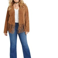 joanne Plus Size boho fringe jacket Fashion Women Solid Bohemian Coat Tassel hippie hippy retro vintage brown
