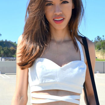Cut Me Out Bustier - Ivory