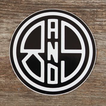 Circle 89 Black Sticker