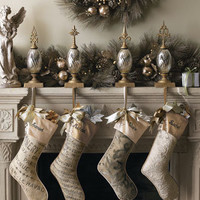 French Laundry Home - Personalized Stockings & Glass Stocking Holders - Horchow