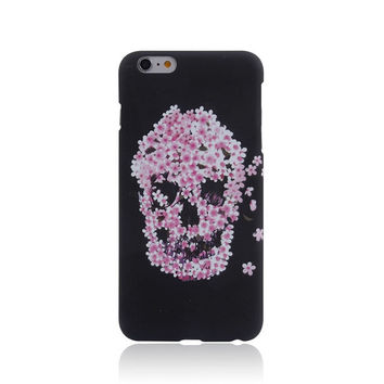 Skull Punk Style Luminous Light Up Handmade iPhone Cases for 5S 6 6S Plus Free Shipping