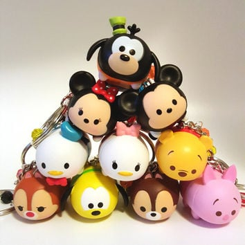 Miniature Kawaii Cute Tsum Tsum Keychains 10 Different Characters