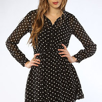 The Stare Why Don't You Shirt Dress in Black & Cream