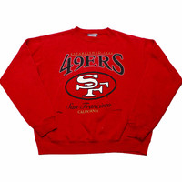Vintage 1995 Lee Sport San Francisco 49ers Crewneck Sweatshirt Mens Size Medium