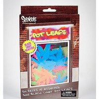 Pot Leaf Glow Shapes 50-Pack - Spencer's