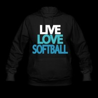 Live Love Softball Hoodie | Spreadshirt | ID: 4459048