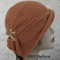 Crochet Hat Pattern Clochet With Side Gathered Brim PDF Easy To Make
