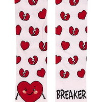 Heart Breaker Ankle Socks - Pink