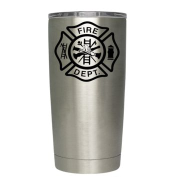Fire Department on Stainless 20 oz Tumbler