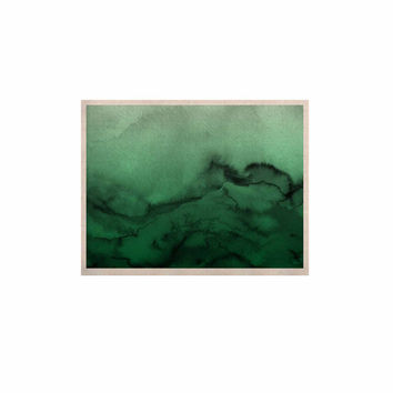 "Ebi Emporium ""Winter Waves 7"" Green Black KESS Naturals Canvas (Frame not Included)"