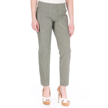 Carven Womens Gabard Checkered Casual Ankle Pants