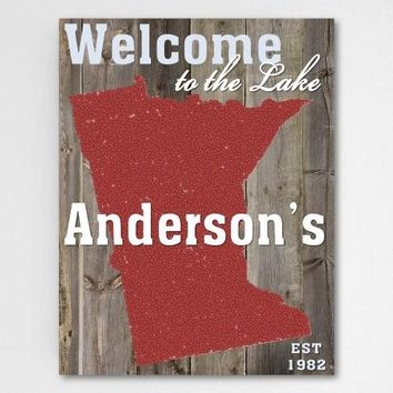 18 x 24 Lake House State Canvas Sign