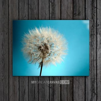 Large Wall Art Dandelion Canvas Print | Flower Art Canvas Print for Wall Art