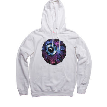 Galaxy Keep Watch Pullover Hoodie (White)