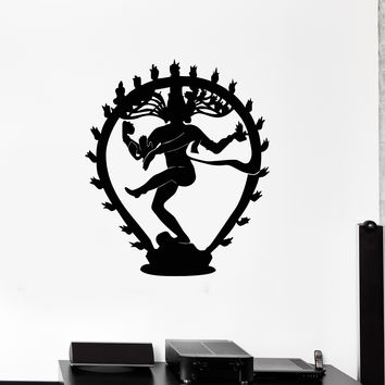 Vinyl Wall Decal Shiva Silhouette Hinduism God Hindu Religion Art Stickers Unique Gift (ig4961)