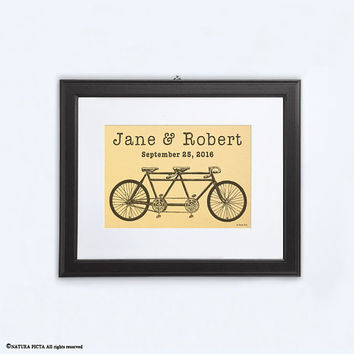 Tandem gold print-metallic gold print-anniversary print-wedding print-love print-home decor-gold print-gold wall art-by NATURA PICTA-NPG001